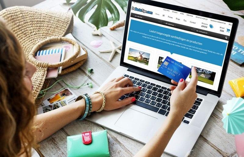 Millennial shopping online